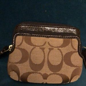Coach coin purse with card slots